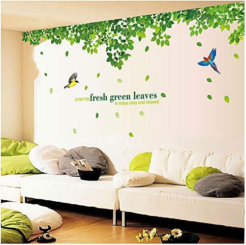 Pegatinas de pared de madera verde sala de estar dormitorio decoración extraíble pegatinas a prueba de agua Yh1307