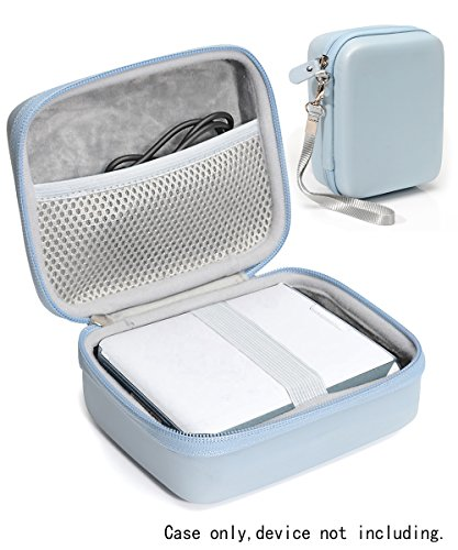 Protective Case for Fujifilm INSTAX Share SP-2 Smart Phone Printer by WGear, Mesh Pocket for Cable and Printing Paper (Sky Blue)