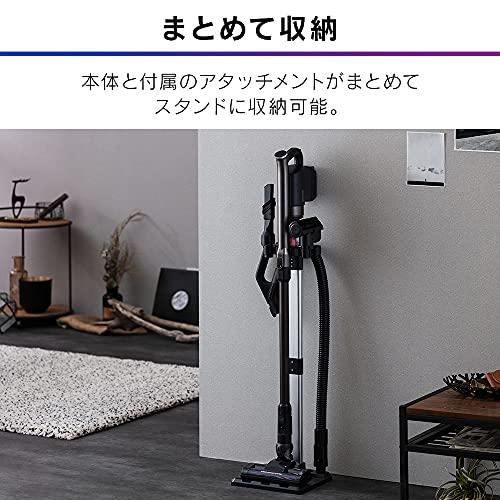 アイリスオーヤマ掃除機コードレスハンディサイクロンスティッククリーナーパワーヘッド2WAY軽量重量1.3kg静音アタッチメントセット付(スタンド・ミニモーターヘッド・ブラシノズル・フレキシブルノズル)SCD-142P-Bブラック27.5×23.5×111.3cm