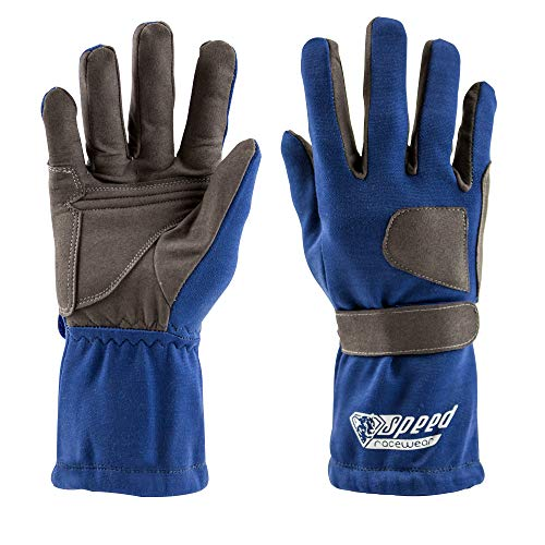 Speed Racewear - Karthandschuhe Sydney - Motorsport Handschuhe (10, Blau)