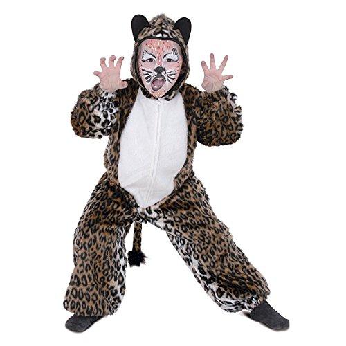narrenwelt Leopard Tiger Overall Leo 1tlg. mit Kapuze 98