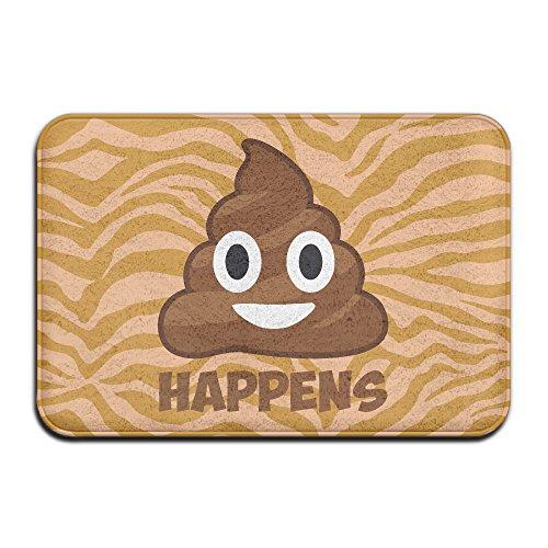 Zachte anti-slip Poop Gebeurt Emoji Bad Mat Koraal tapijt Deur Mat Ingang Tapijt Vloermatten Voor Voorzijde Deuren Entry Tapijt 40 X 60 Cm.