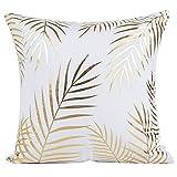 JOTOM Kissenbezüge Flanell Gold Sofa Kissenbezug Kissenhülle 45x45 cm Home Decor Kissenhüllen...