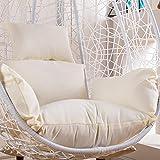 Cojín para silla de huevo, grueso para colgar, cojín de asiento, solo cojín, cojín para columpio de patio, hamaca, cojín grande, antideslizante, lavable, para interior y exterior