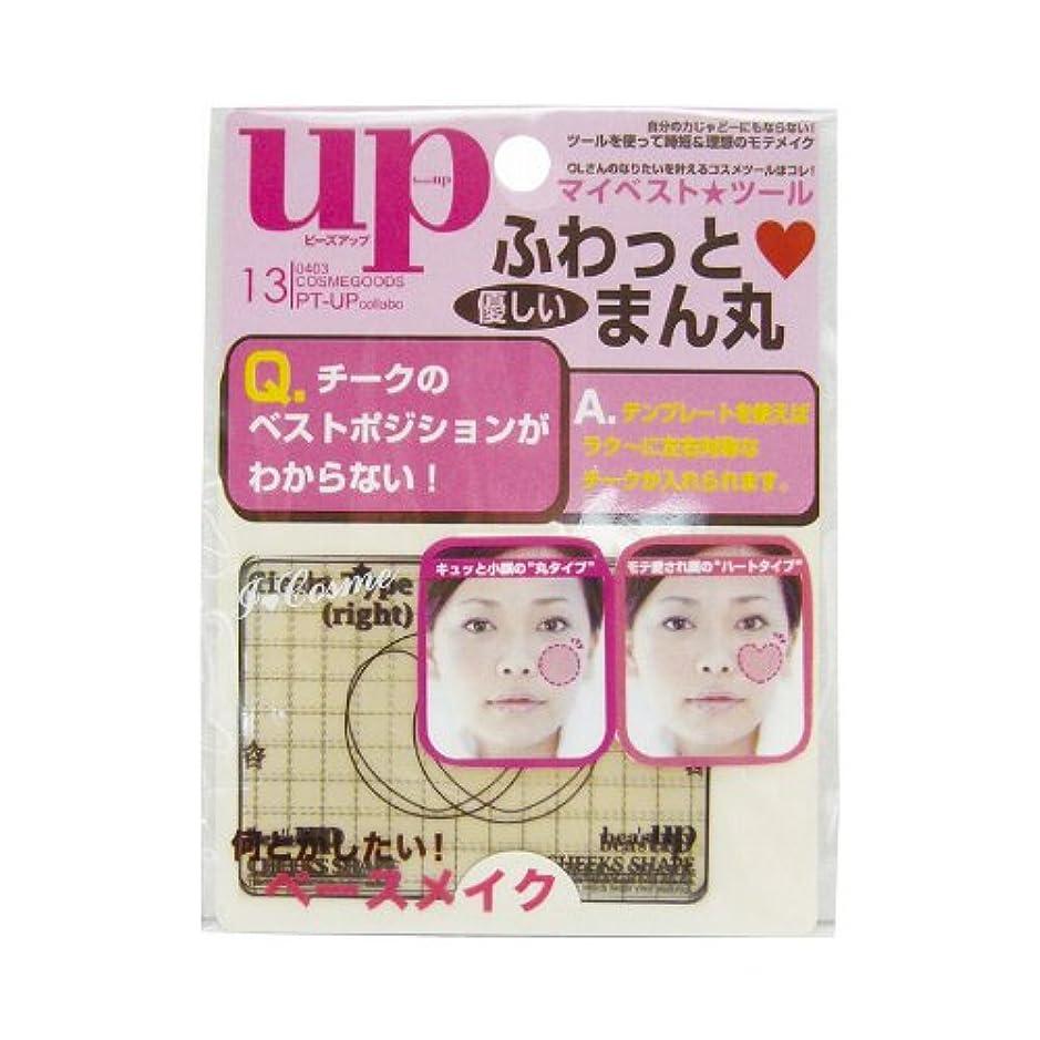 版教科書少しbea`s up(ビーズアップ) チークテンプレート(丸型&ハート型)