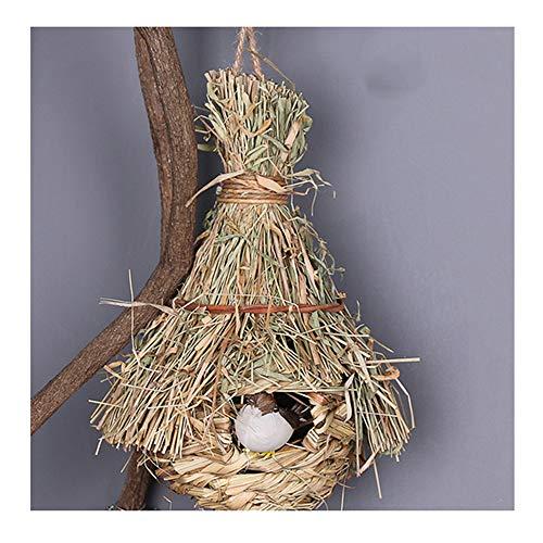 ueetek Natural hecho a mano hierba Hut cama casa paja hierba p/ájaro Cubby nido jaula para conejo conejo h/ámster de jerbo Chinchillas