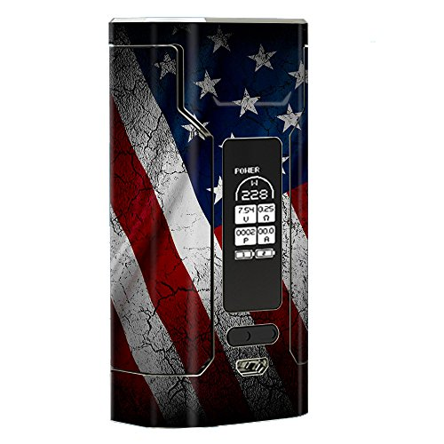 Skin Decal Vinyl Wrap for Wismec Predator 228 Vape Mod stickers skins cover/ American Flag distressed
