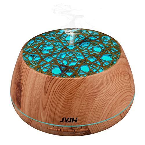 JVJH Ckeyin Humidificador Esencias,Humidificador Aromaterapia Ultrasónico,Gran Capacidad, Gradiente De 14 Colores, Material Seguro, Amplia Cobertura, Adecuado para Todas Las Estaciones…