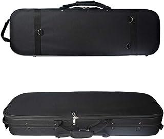 バイオリンケース,Benkeg 4/4フルサイズアコースティックバイオリン長方形ケースポータブルバイオリンバッグ軽量湿度計内蔵ミュージックポケットショルダーストラップブラック