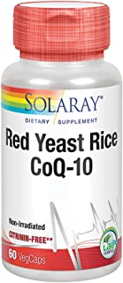 Solaray Red Yeast Rice Plus COQ-10 Supplement, 60 Count