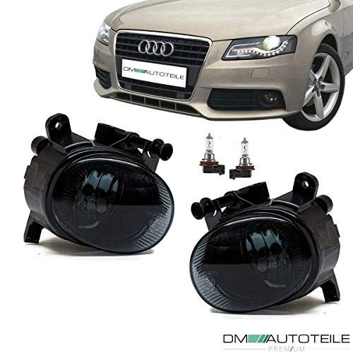 DM Autoteile Klarglas Nebelscheinwerfer Set H11 schwarz smoke passt für A5 7T A4 B8 A6 4G Q3 Passat CC