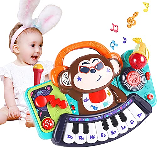 WISHTIME Early Educational Musical Baby Toys - Toddler Piano Keyboard Toys...
