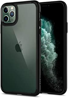 【Spigen】 iPhone 11 Pro ケース 5.8インチ 対応 背面 クリア 米軍MIL規格取得 耐衝撃 カメラ保護 衝撃吸収 Qi充電 ワイヤレス充電 ウルトラ・ハイブリッド 077CS27234 (マット・ブラック)