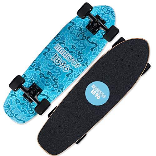 SONGTING Step stool Skateboard komplett für Erwachsene und Anfänger - 26-Zoll-Cruiser-Skateboard komplett für die Fahrt auf dem Pendelweg mit T-Tool