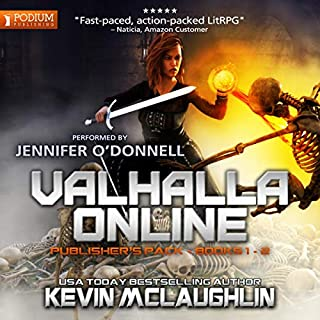 Valhalla Online     Publisher's Pack, Books 1 & 2              By:                                                                                                                                 Kevin O. McLaughlin                               Narrated by:                                                                                                                                 Jennifer O'Donnell                      Length: 12 hrs and 34 mins     191 ratings     Overall 4.4