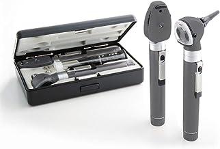 ست تشخیصی ADC Otoscope / Ophthalmoscope ، اندازه جیبی ، لامپ LED ، 2.5 ولت ، کیف سخت ، Diagnostix 5110NL ، خاکستری
