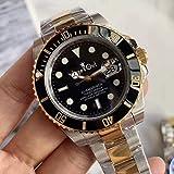クラシック腕時計シルバーゴールドブラックセラミックサファイア男性機械式ステンレス鋼自動Eta 2813ブレスレット116600時計40 mm2
