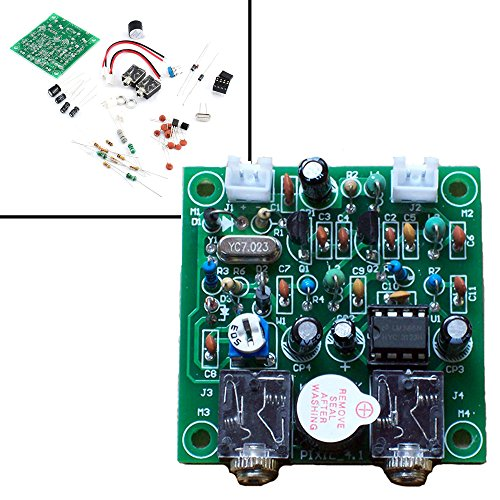 Qianson Shortwave Transmitter Receiver HAM Radio 40M CW Version 4.1 7.023-7.026MHz QRP Pixie Kits DIY with Buzzer Transceiver