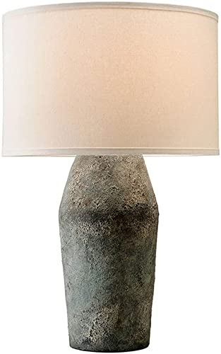 new arrival Troy Lighting PTL1005 Artifact - One Light Table outlet online sale Lamp, Moonstone wholesale Finish with Off-White Linen Shade online sale