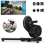 HBRT Bicicletta Intelligente Trainer, Virtual Reality Experience Built in-Power Meter Bluetooth Ant + Catena Direct Drive, Intelligente dell'interno Power Bike Trainer