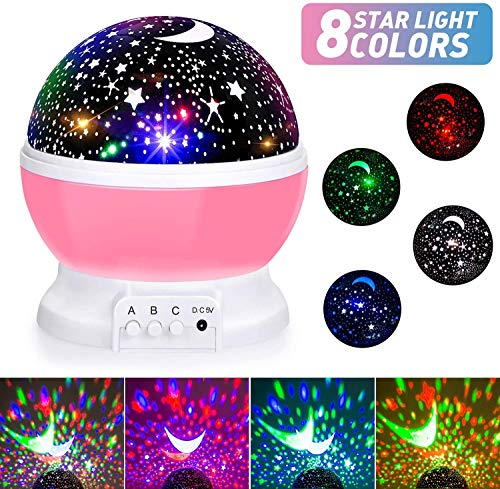Baby Night Lights, Moon Star Projector 360 Degree...