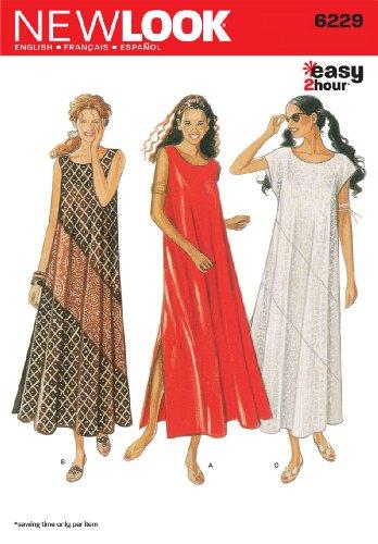 New Look - Cartamodello 6229 per Vestiti da Donna, Taglie 40/42/ 44/48/ 50/52