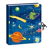 Peaceable Kingdom Deep Space Glow in The Dark 6.25' Lock and Key, Lined Page...