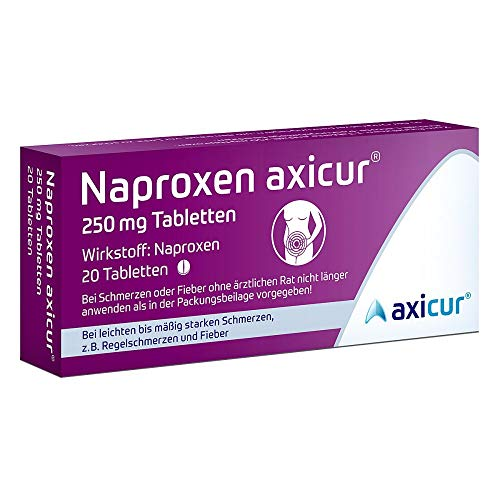 Naproxen axicur 250 mg Tabletten, 20 St