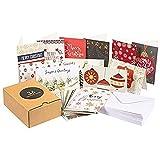 36unidades) feliz Navidad tarjetas de felicitación Bulk–Set de caja, invierno vacaciones de Navidad tarjetas de felicitación en 36único diseños, incluye sobres, 4x 6pulgadas
