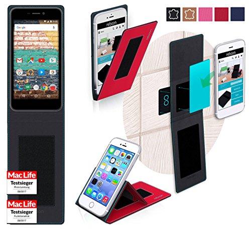 reboon Hülle für Archos 50f Neon Tasche Cover Case Bumper | Rot | Testsieger