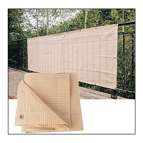 RZEMIN Toldo Malla Sombra, Cubierta Parasol 90% Anti-UV a Prueba Viento, Paño Rectangular Bloqueador Solar para Pérgola Invernadero, Tamaño Personalizado (Color : Beige, Size : 5cmx8cm)