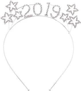 Rosemarie Collections Women's Sparkly Rhinestone Happy New Year's Tiara Headband