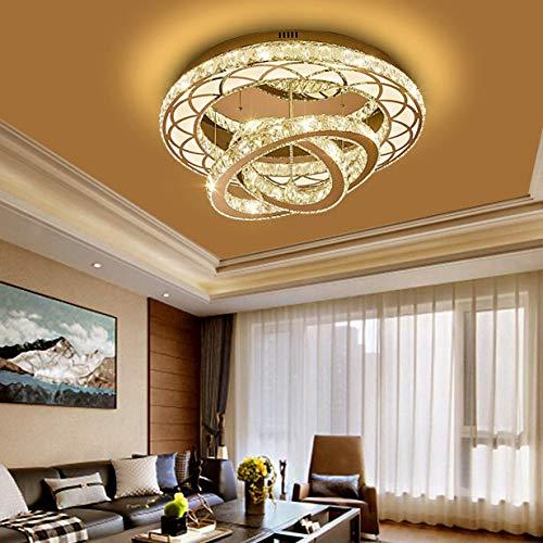 TRPYA Luz de Techo de Cristal LED Moderna, lámpara de Techo de diseño de Cristal Creativo 108W Regulable con Control Remoto 3000-6000K Lámpara de Sala de Estar de Sala de Estar