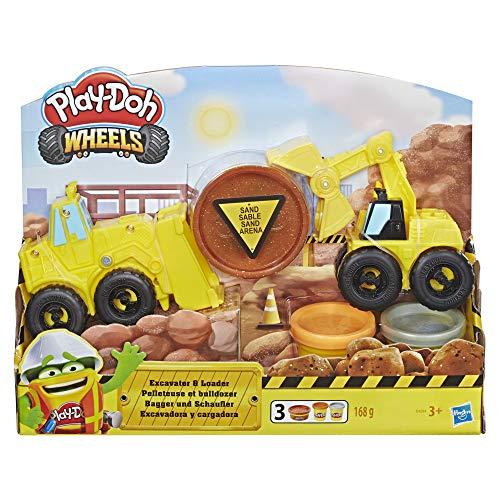 Hasbro Play-Doh - Wheels Giocattolo Escavatore e Caricatore, Giallo, E4294EU4
