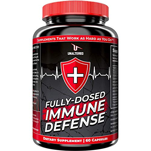 Immune System Booster with Digestive Support - Elderberry, Vitamin C, Zinc, Echinacea, Probiotics - Vegan Capsules - 1 Month Supply