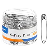 A+DAY Large Safety Pins 2.2 Inch (56mm), Size 4, 80-Count, Nickel Finish