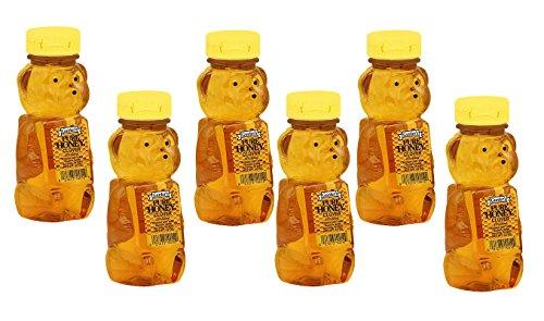 Gunter's Pure Clover Honey Bears - 12 oz (Pack of 6)
