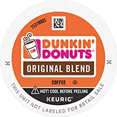 Contains 6 Boxes of 10 K-Cup Pods (60 Count Total) For use in all Keurig K-Cup Brewers Medium roast coffee k cups featuring 100% Premium Arabica Coffee Original Blend is the coffee that made Dunkin' famous, featuring a rich, smooth taste unmatched by...