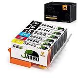 JARBO Remplacer pour HP 364 XL Cartouche d'encre 5 Couleur (2BK&1PBK/C/Y/M) Grande capacité Compatible avec HP Photosmart 5520 5525 6520 7510 5510 B8550 C5380 B010a B109a C309a HP Deskjet 3070A 3520