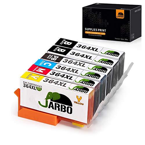 JARBO 5 Colori Compatibile HP 364 XL Cartucce d'inchiostro (2 Nero,1 Nero Foto,1 Ciano,1 Magenta,1 Giallo) Compatibile con HP Photosmart 5510 5511 5512 5514 5515 5520 5522 5524 6510 6520 6512 6515 7510 7520 7515 B8550 B8558 C5370 C5373 C5324 C6388 D5460 D5463 B110a B110c B010a B010b B111a B109a B109b C309a C309c B209a B210a HP Deskjet 3070A