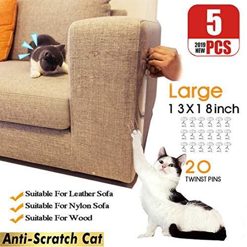 BEST NEW 13x18inch -5 Pack Large Furniture Protectors from Cats, Stop Cat Scratching Couch, Cat Scratch Deterrent Couch Protector, Pet Repellent for Furniture& Door& Car Seat