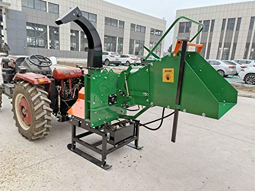 Buy Bargain Wood Chipper Tractor Attachment 3 Point PTO Cutter Mulcher Shredder, Hydraulic Feed, 200...