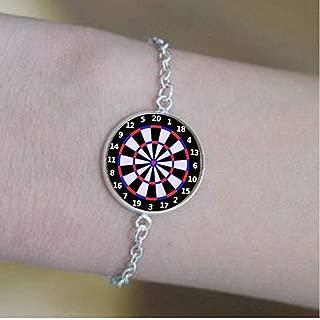lukuhan New Dart Board Glass Round pendant5.Bracelets -Positive Message Jewelry