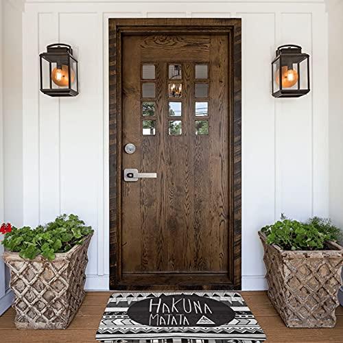 Hakuna Matata - Felpudo para interiores y exteriores, antideslizante, lavable, absorbe rápidamente la humedad y resiste la suciedad para puerta, cocina, oficina, 40 x 60 cm