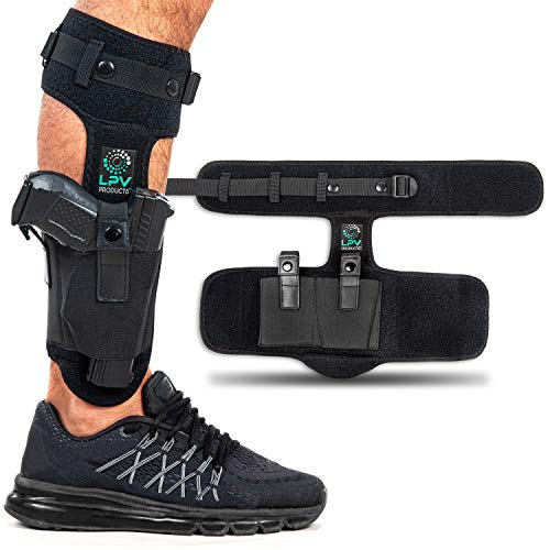 Ankle Holster For Concealed Carry, Conceal Holster | Upgraded Strap | Comfortable & Durable | Fits: Glock 43 27 26 19, Ruger LCP 380, Kimber, XDS 45, M&P Shield 9mm, Bodyguard 380, Sig Sauer P365 P238
