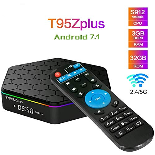 LOISK T95Z Plus-Android Smart TV Box 3GB RAM 32GB ROM Amlogic S912 Octa-Core Dual-Band-WLAN-2.4G / 5G 1080P 4K HD 3D Bluetooth 4.0 Mini-TV-Box