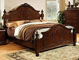 247SHOPATHOME Poster bed, California king, Cherry