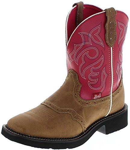 Justin Boots Damen Cowboy Stiefel L2926 Tan Westernreitstiefel Lederstiefel Braun 38.5 EU