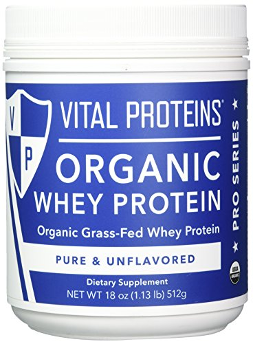 Unflavored Organic Whey Protein, 25g of Protein per Serving - 18 oz Canister - Vital Proteins