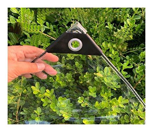 Transparente Plane Kunststoffplane Mit Ösen, Gartenmöbel Oder Ähnliches Abzudecken, Dicke 0.3mm,Größe Kann Angepasst Werden (Color : Transparent, Size : 1x2m)